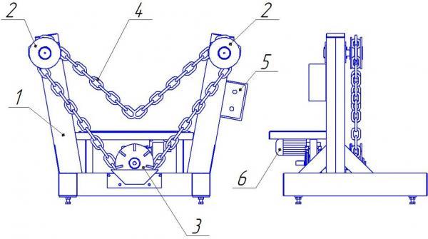 Схема устройства кантователя сборно-сварочного КЦ-4
